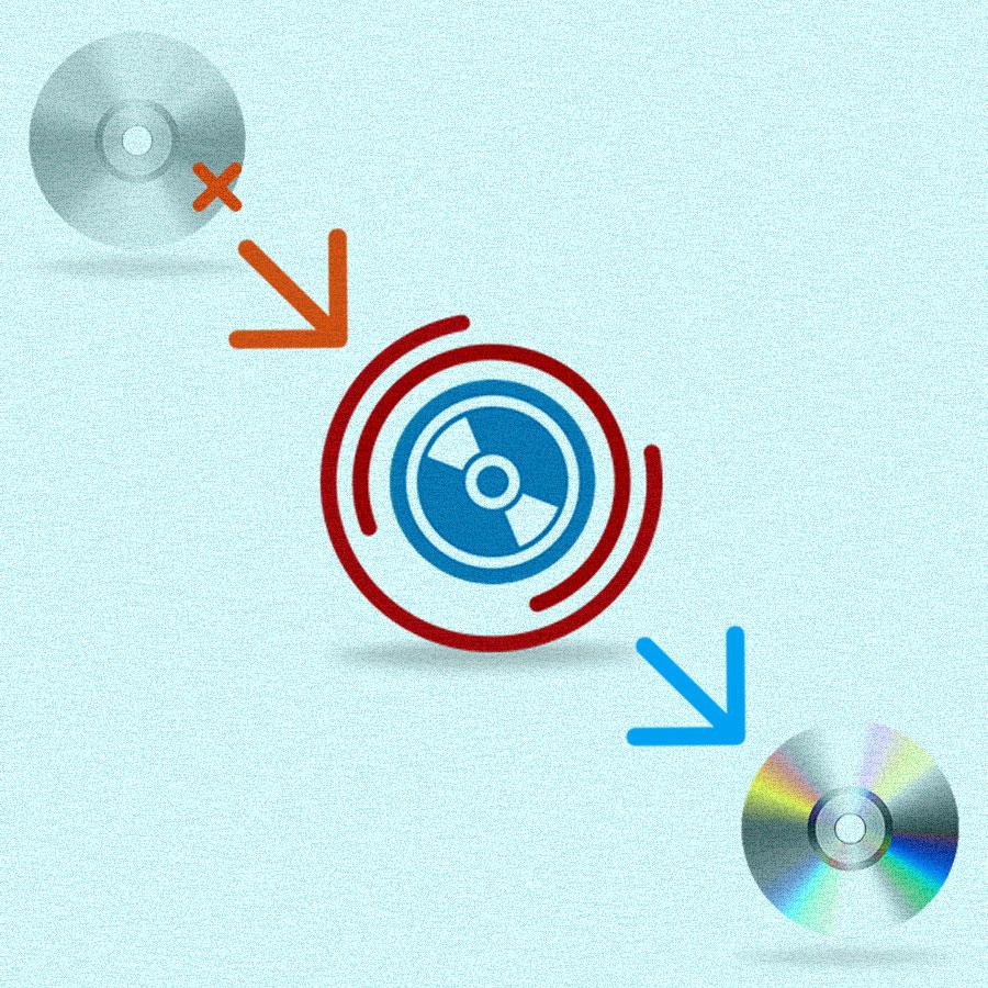 Восстановление данных с CD DVD