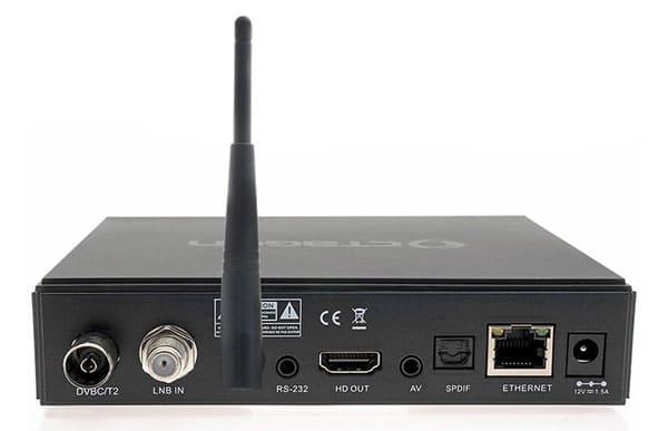 Octagon SF8008 Mini 4K UHD Combo тыльная сторона