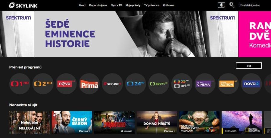 Онлайн-сервис Skylink Live TV