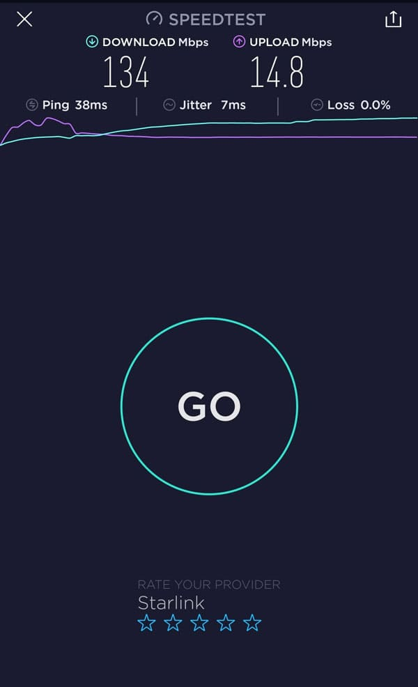 Speedtest Starlink